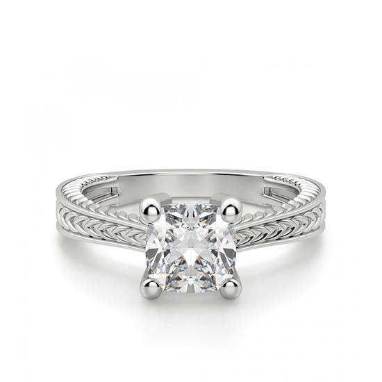 Помолвочное кольцо кушон, Больше Изображение 1