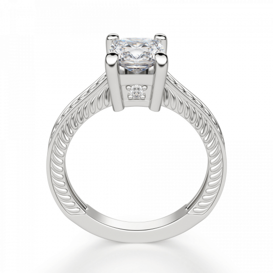 Помолвочное кольцо кушон,  Больше Изображение 2