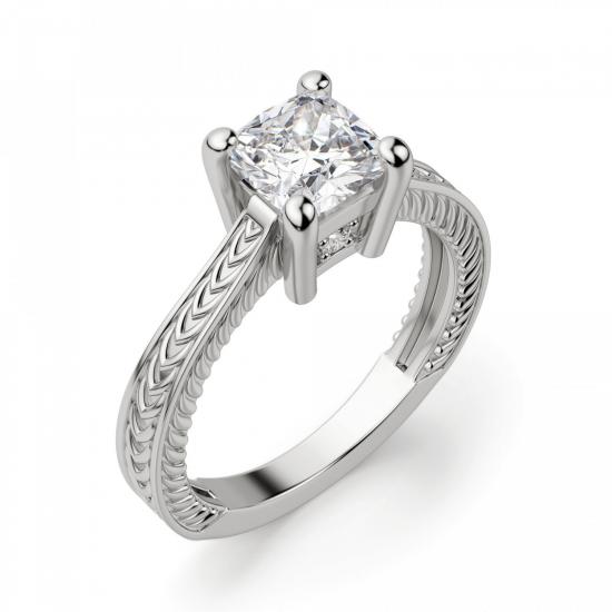 Помолвочное кольцо кушон,  Больше Изображение 3