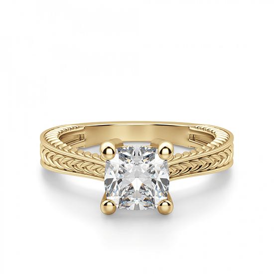 Помолвочное кольцо кушон плетеное, Больше Изображение 1