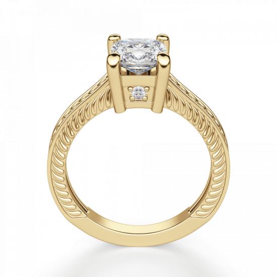 Помолвочное кольцо кушон плетеное,  Больше Изображение 2
