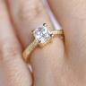 Помолвочное кольцо кушон плетеное, Изображение 5