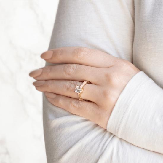 Помолвочное кольцо кушон плетеное,  Больше Изображение 6