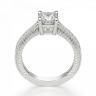 Кольцо с бриллиантом принцесса и паве по бокам, Изображение 2