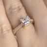 Кольцо с бриллиантом принцесса, Изображение 5