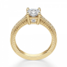 Помолвочное кольцо Кушон с боковыми бриллиантами, Изображение 2