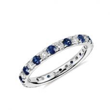 Кольцо дорожка с сапфирами и бриллиантами