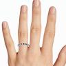 Кольцо дорожка с сапфирами и бриллиантами, Изображение 2