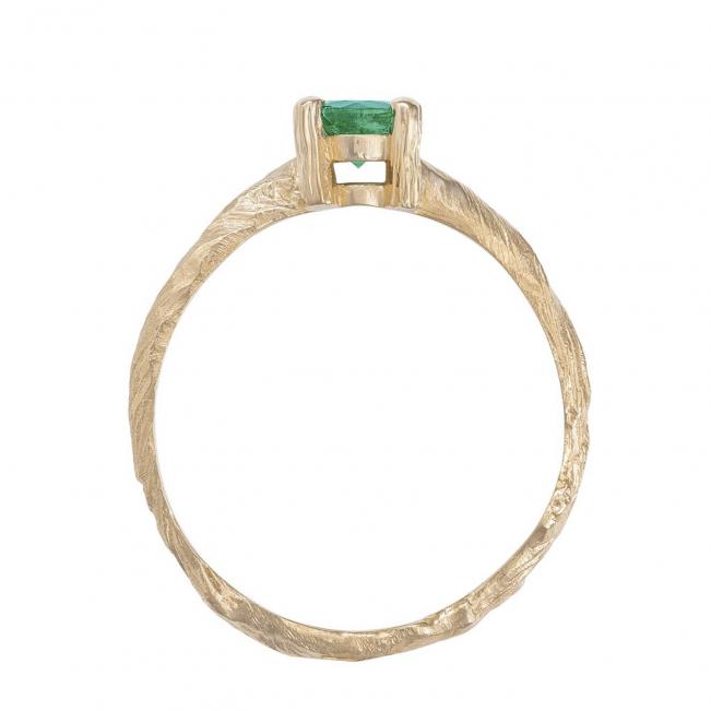 Кольцо с круглым изумрудом 0.50 карата