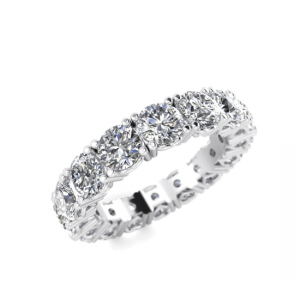 Кольцо дорожка по кругу с бриллиантами 5 карат