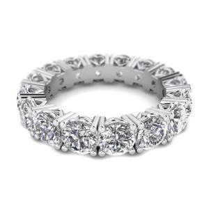 Кольцо дорожка по кругу с бриллиантами 5 карат - Фото 2
