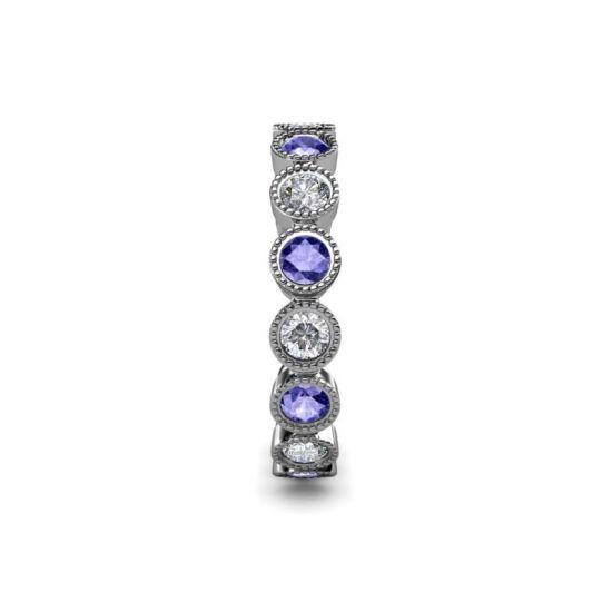 Кольцо дорожка из танзанитов и бриллиантов,  Больше Изображение 4
