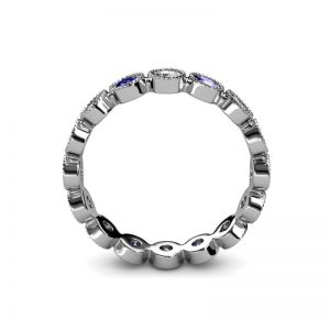 Кольцо дорожка из танзанитов и бриллиантов