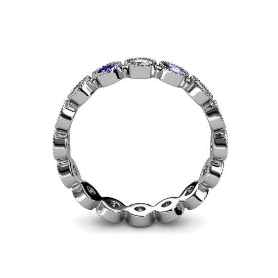 Кольцо дорожка из танзанитов и бриллиантов,  Больше Изображение 3