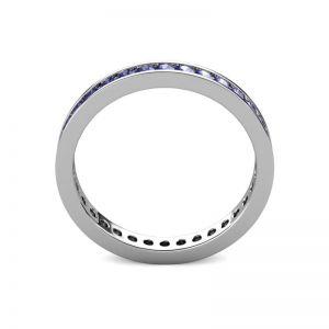 Кольцо дорожка из танзанитов