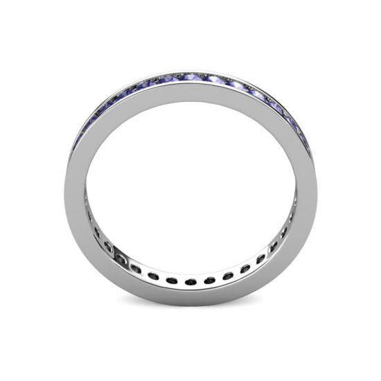 Кольцо дорожка из танзанитов,  Больше Изображение 4