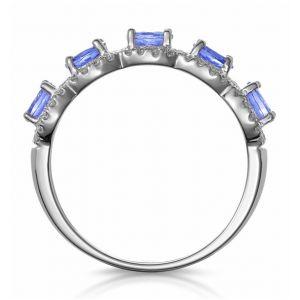 Кольцо с 5 танзанитами