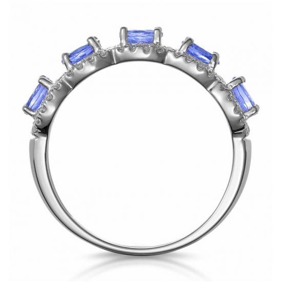 Кольцо с 5 танзанитами,  Больше Изображение 2