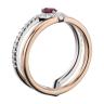 Двойное кольцо с рубином и бриллиантами, Изображение 2