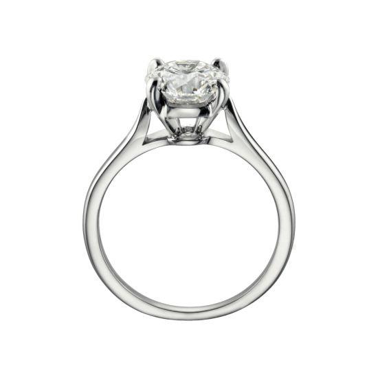 Классическое кольцо с 1 бриллиантом на помолвку,  Больше Изображение 2
