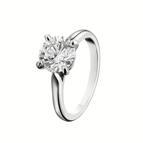 Классическое кольцо с 1 бриллиантом на помолвку,  Больше Изображение 3