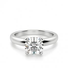 Классическое кольцо с 1 бриллиантом на помолвку