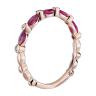 Кольцо дорожка с рубинами маркиз и бриллиантами, Изображение 2