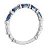 Кольцо дорожка с сапфирами маркиз и бриллиантами, Изображение 2