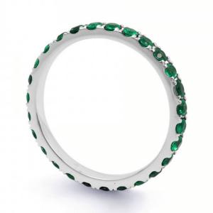Кольцо дорожка с изумрудами 0,95 карата