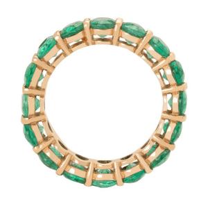 Кольцо дорожка с изумрудами 8 карат