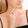 Кольцо дорожка с изумрудами 8 карат, Изображение 3
