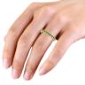 Кольцо дорожка с изумрудами, Изображение 5