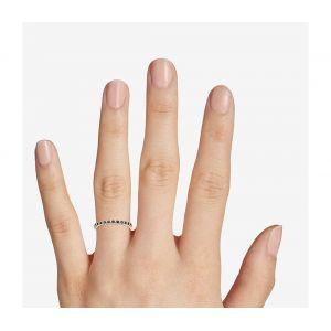 Кольцо дорожка с сапфирами