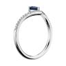 Кольцо с сапфиром Груша и бриллиантами, Изображение 2
