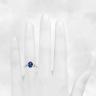 Кольцо с овальным сапфиром и бриллиантами, Изображение 3