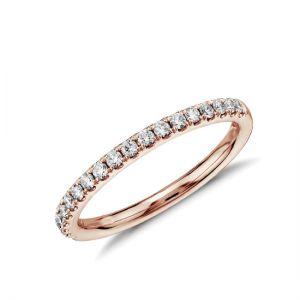 Кольцо тонкая дорожкаиз 15 бриллиантов
