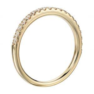 Кольцо дорожкой из 15 бриллиантов