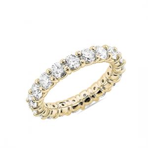 Кольцо гладкая дорожка с бриллиантами 3 кт по кругу