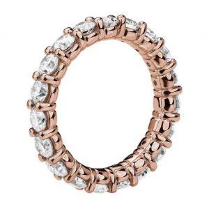 Кольцо дорожка с бриллиантами 3 кт из розового золота