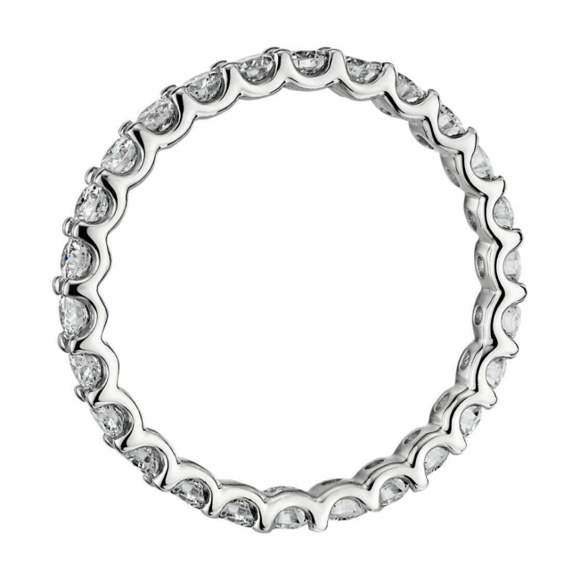 Кольцо невысокая дорожка с бриллиантами