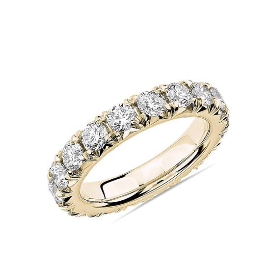 Кольцо дорожка с бриллиантами 3 карата по кругу, Больше Изображение 1