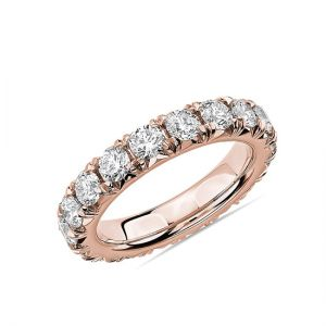 Кольцо с бриллиантами 3 карата из розового золота