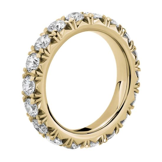 Кольцо дорожка с бриллиантами 3 карата по кругу,  Больше Изображение 2