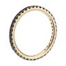 Кольцо дорожка с черными бриллиантами из золота, Изображение 2