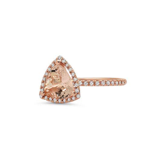 Кольцо с морганитом и бриллиантами,  Больше Изображение 3