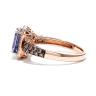 Кольцо с танзанитом в ореоле бриллиантов, Изображение 3