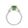 Кольцо с изумрудом и бриллиантами по бокам, Изображение 3