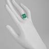 Кольцо с изумрудом 5 карат и боковыми бриллиантами, Изображение 2