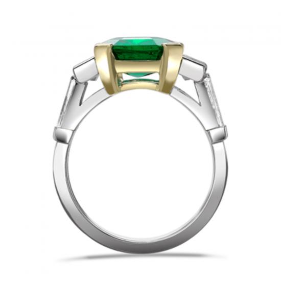 Кольцо с изумрудом и бриллиантами,  Больше Изображение 2
