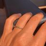 Тонкое ребристое кольцо с изумрудом, Изображение 2